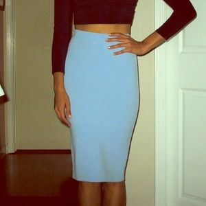 Foreign Exchange baby blue mini skirt size M