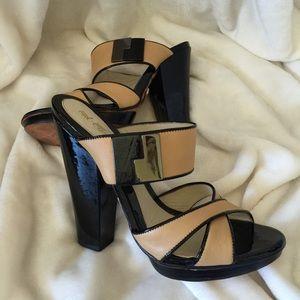 LAMB leather high sandals