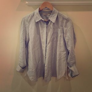 J Brand striped button down shirt