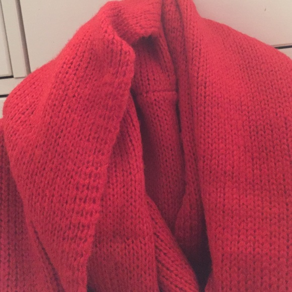 70 Off Accessories Red Winter Infinity Scarf From