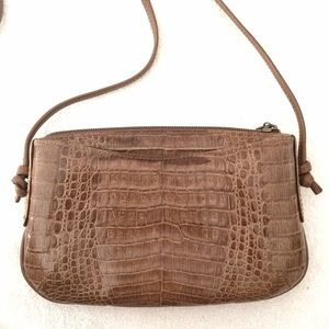 Vintage Bags - ❌ Vintage '60s Crocodile Embossed Leather Bag