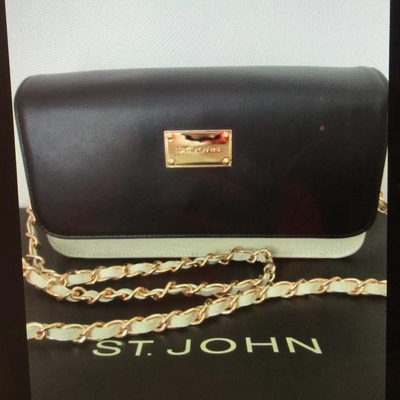 NEW ST JOHN KNIT CRIMSON  RED LEATHER TOTE OR SHOULDER  HAND BAG