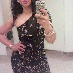 DVF one shoulder Sparkle dress
