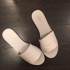 LOFT Shoes - White slides