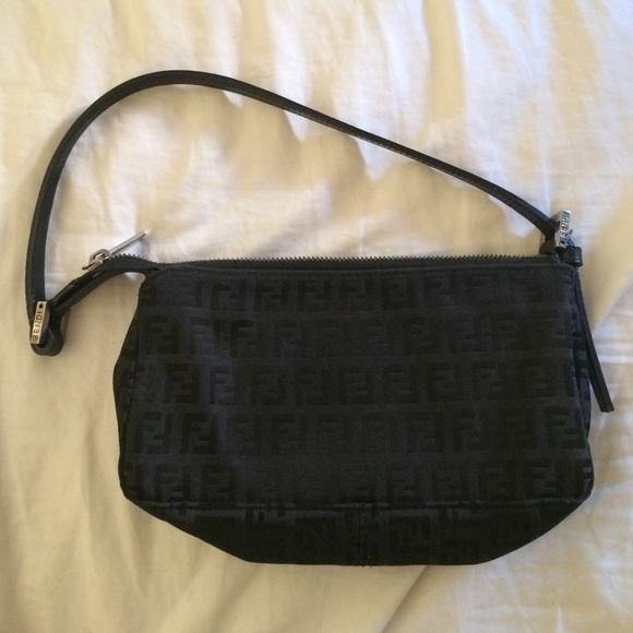 f36c49c4236c FENDI Handbags - Authentic Fendi Zucchino Pochette Bag