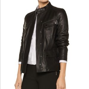 Vince Jackets & Blazers - NWT! VINCE Black Leather Cargo Jacket REDUCED