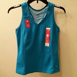 Danskin NOW Tops - Workout Mesh Neck Tank. BNWT. Media pocket.