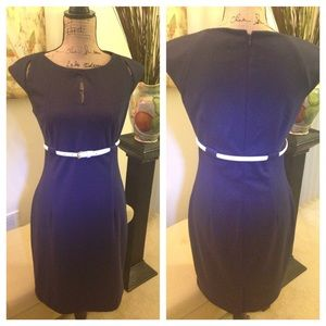 Calvin Klein dress in navy and size 6.