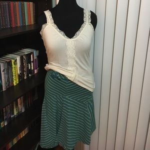 Dresses & Skirts - Blue, green and white striped skirt.