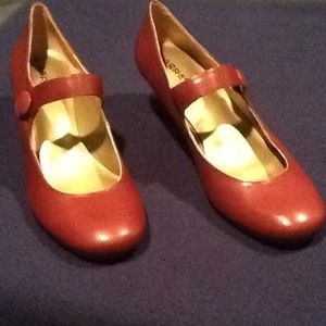 array Shoes - Reddish brown Mary Jane shoe