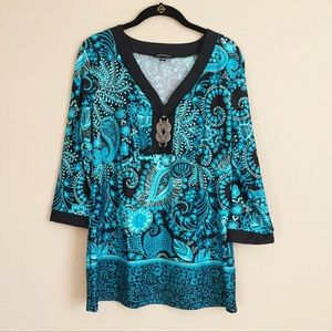 Blue Beach Coverup Top/Dress