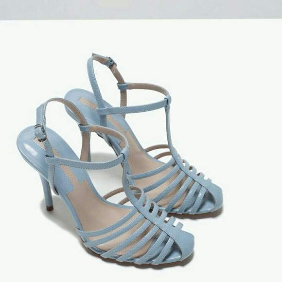 169d6e9c549 Zara high heel T bar shoes(2235)