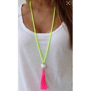 Neon statement necklace!