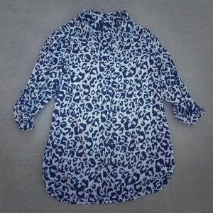 Animal Print Button Down Shirt