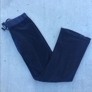 Juicy Couture Pants - Juicy Couture Velour Track Pants (Navy)