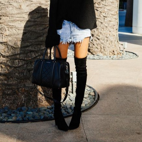 32b9fd205ab Aldo black over the knee boots - Cylia