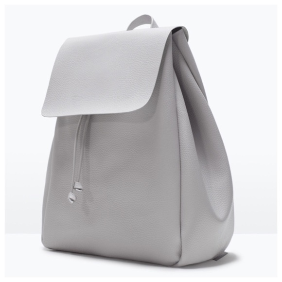 Zara Bags White Faux Leather Backpack Nwot Poshmark