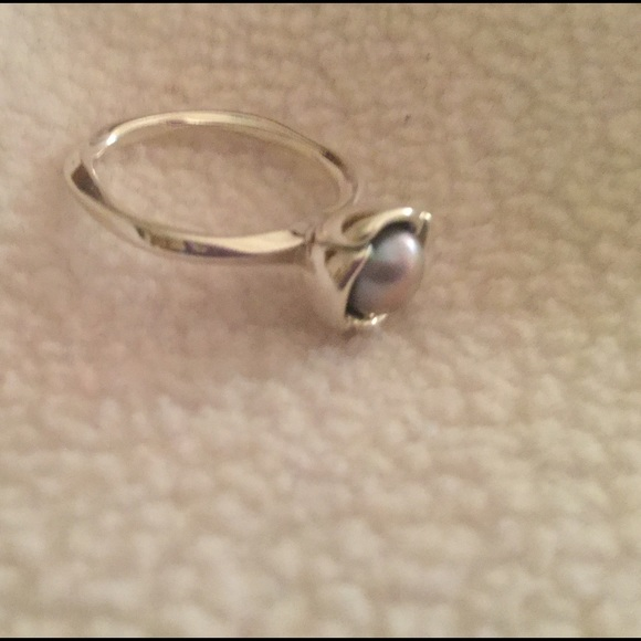 "Pandora Grey Pearl Earrings: New Pandora ""My Wish Silver"