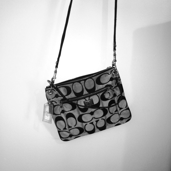 Coach Bags | Black Poppy Sling Bag | Poshmark