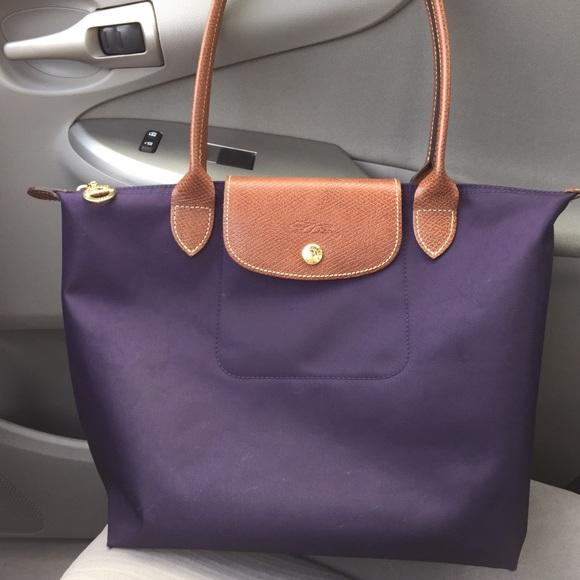 3d03725665a Longchamp Handbags - Small purple Longchamp tote!