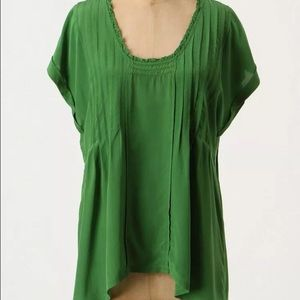 Anthropologie Tops - Anthropologie Sudden Downpour Silk Top by Lil