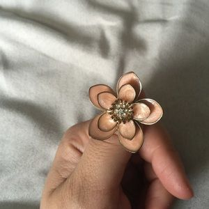 Pink flower ring size 8