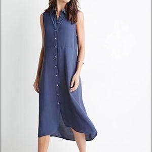 Navy blue midi dress size S