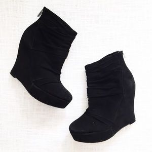 Boutique 9 Shoes - RESERVED boutique 9 black wedge booties