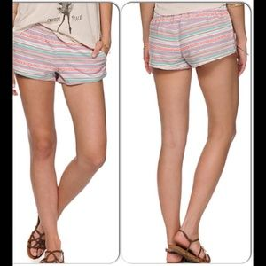 EMPYRE Striped Cotton Shorts with Pockets