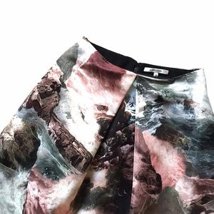 Carven Dresses & Skirts - SALE -- Carven multicolor wave print satin skirt