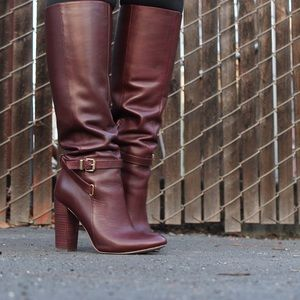 Ava & Aiden Shoes - Oxblood 'Maddock' High Heel Boot