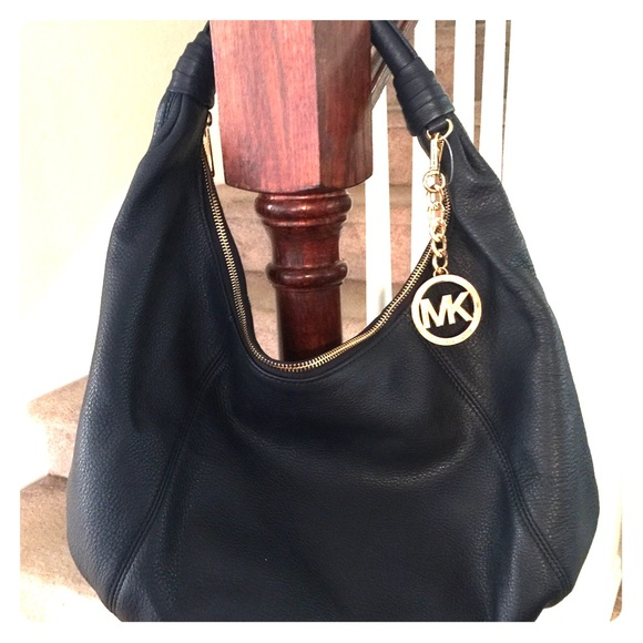 80% off Michael Kors Handbags - Michael Kors navy blue hobo bag ...