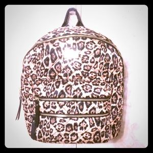 Steve Madden Quilted Leopard Backpack