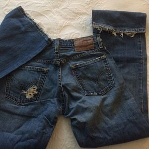 Levi's low boot cut dungarees