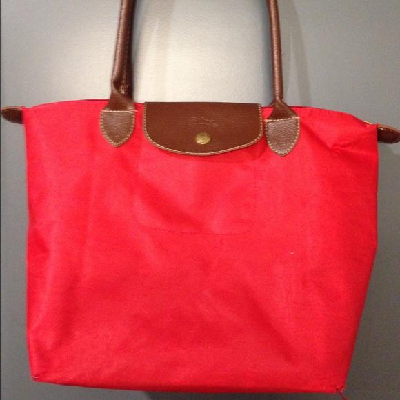 e4a10ab8cca7 Longchamp Handbags - Longchamp Le Pliage Inspired Small Shopper in Red