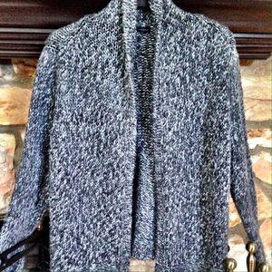 Grey tweed open front cardigan NWOT