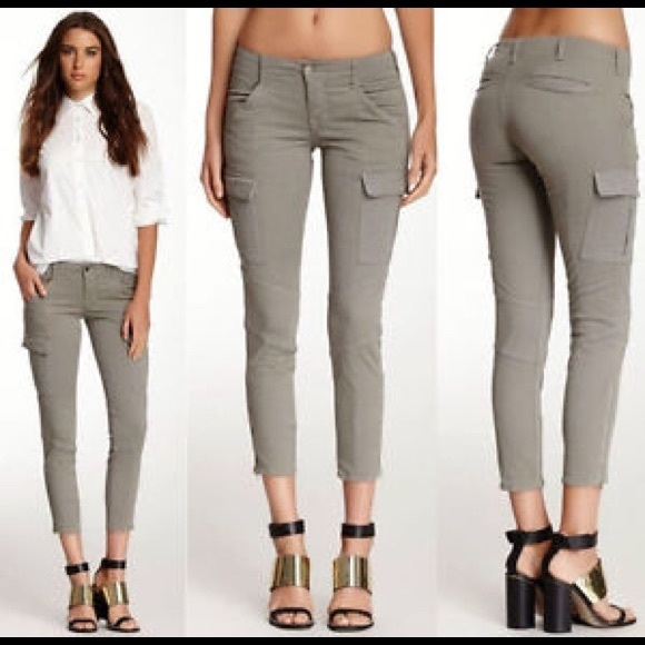 77% off 7 for all Mankind Pants - 7 for all mankind grey skinny ...