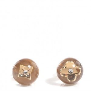 Authentic Clear LV Studs Perfect Size 8mm