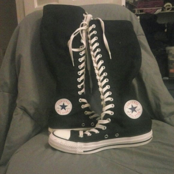 76 converse shoes thigh knee high converse boots