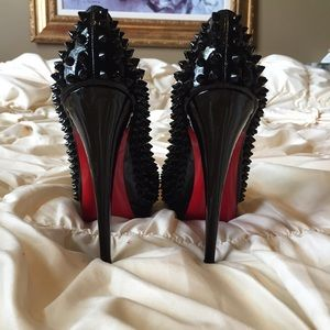 Christian louboutin spiked Bianca 140mm
