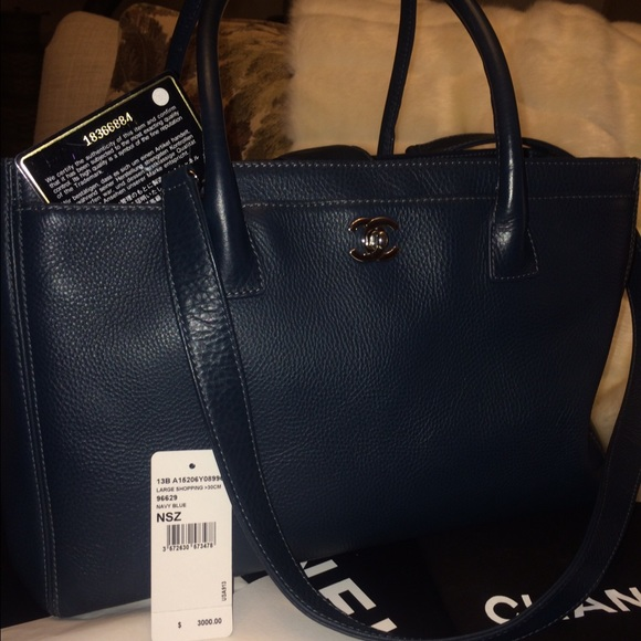 9bbd3249cf0f Chanel Grand Executive Tote Navy With Tags