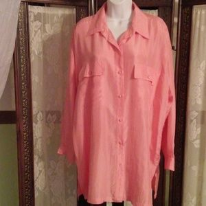 new york studio Tops - Peach silk blouse