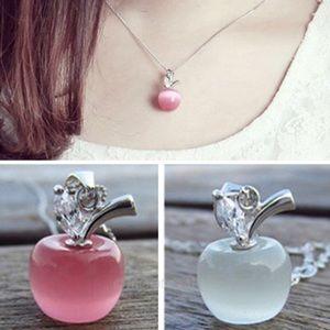 925k sterling silver cat's eye moonstone pendant