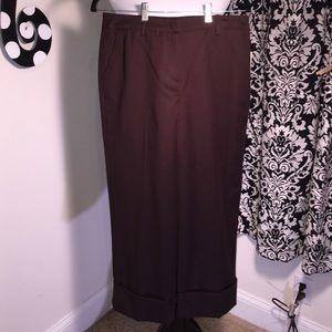 Harve Benard Pants - NWT Well made brown short trouser pants.