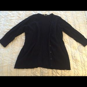 Button up black sweater