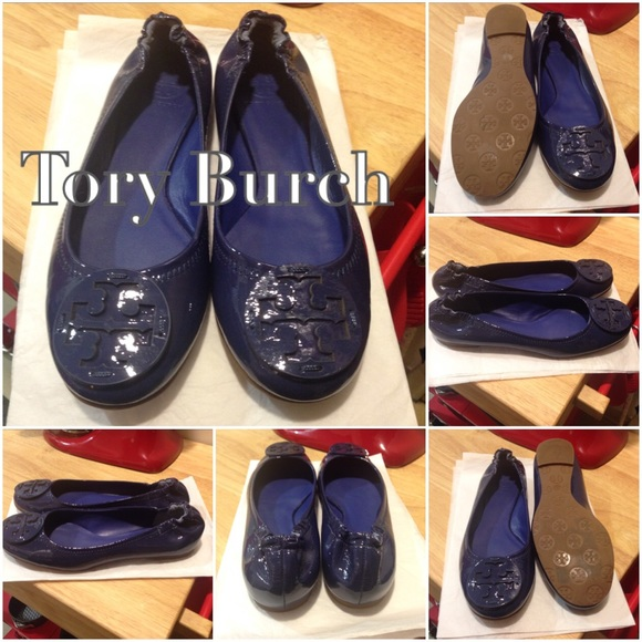 6dbac546617e 🆕🎉Tory Burch🎉NAVY Patent Leather Flats. M 560f7d5715c8affab30087b1