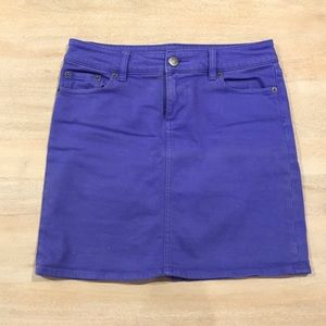 Jcrew purple denim skirt