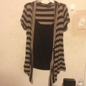 Tops - BUSINESS CASUAL W/BUILT IN CARDIGAN STYLE SHIRT