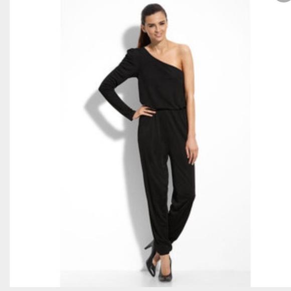 b6fe2e49e9a5 Maggy London Pants - Maggy London One Shoulder Black Jumpsuit