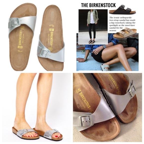 Birkenstock 9 Slide 40 Madrid Silver Flats Sandals l1JTFu3Kc